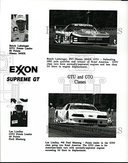 Press Photo Nissan GTU And Ford Mustang At Road America   Orc01224