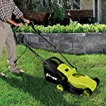 Sun Joe MJ400E 12-Amp 13-Inch Electric Lawn Mower w/ Grass Collection Bag 12 Powerful: 12-amp motor cuts a crisp 13.4 in. Wide path Adjustable deck: customize your cut with 3-position adjustable Height control: 0.98 in., 1.77 in., 2.56 in Lightweight: compact design is ideal for maneuvering around small lawns