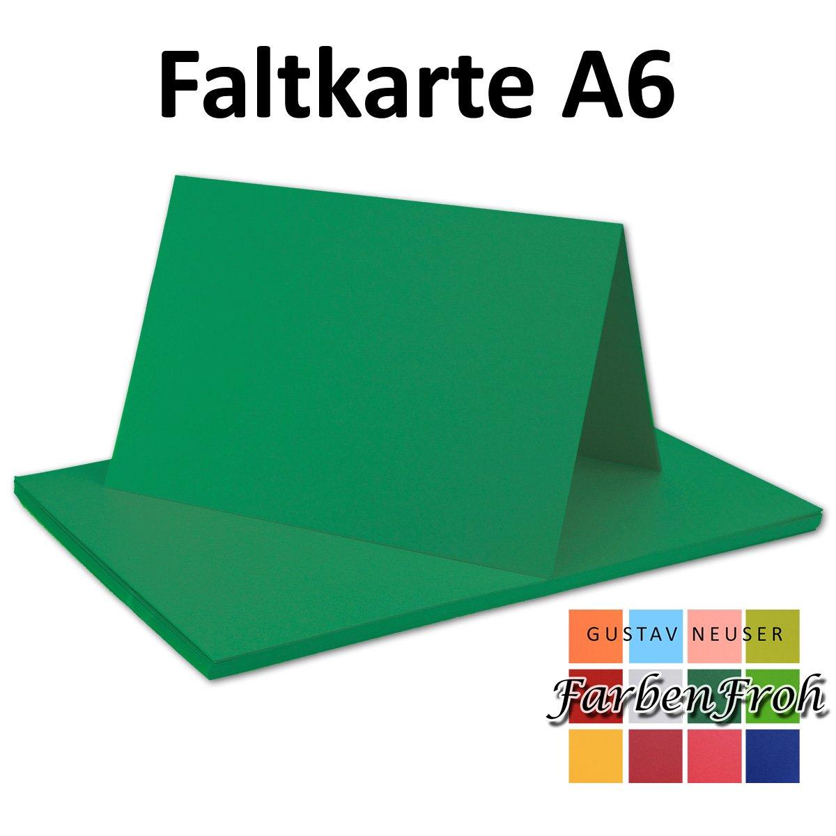 250x Falt-Karten DIN DIN DIN A6 Blanko Doppel-Karten in Hochweiß Kristallweiß -10,5 x 14,8 cm   Premium Qualität   FarbenFroh® B079VLCWJH | New Product 2019  efd000