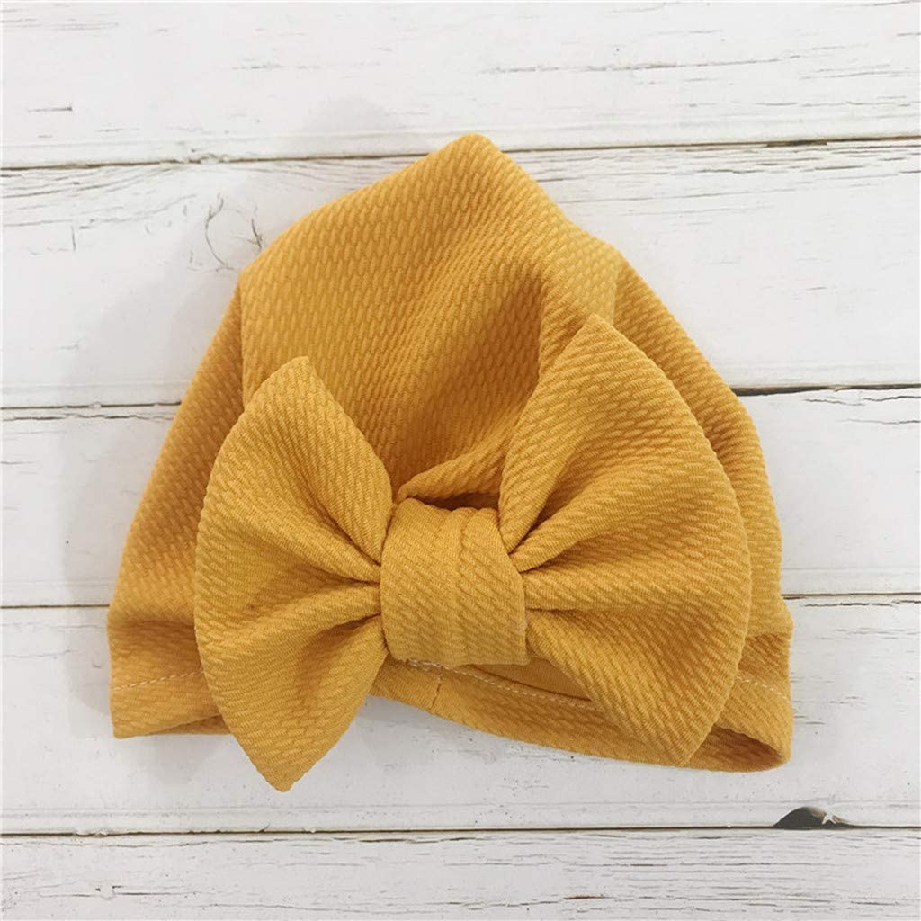 Bylater Newborn Handmade Hat Cap for Toddlers Bow Headwrap Elastic Hair Bands Hair Accessories Photography Props