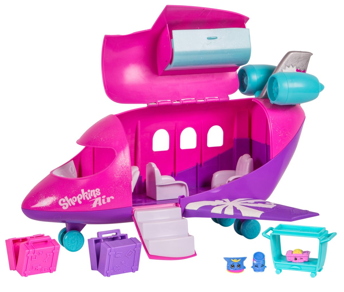 Shopkins Plane Playset, Plus 3 Exclusive Shopkins