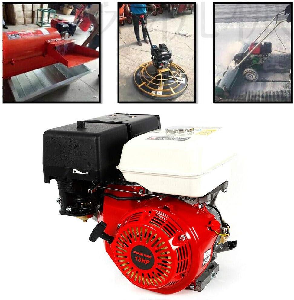 Moteur /à essence Yiyiby 9 kW Monocylindre /à 4 temps OHV avec moteur /à charge lourde de de 15 CV 420 CC Pompe et bateaux Moteur de kart