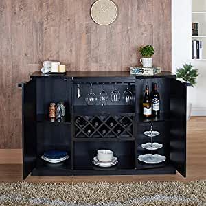 Liquor Storage Cabinet Home Bar Wine Modern Rack Organization