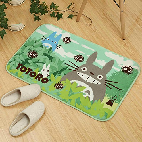 Sytian 50x80cm Ultra Soft Non-slip My Neighbor Totoro Shaggy Area Rugs Carpet Bedroom Rug Bath Mat Bathroom Shower Rug Nice Doormat Floor Mat Cute Kithcen Carpet