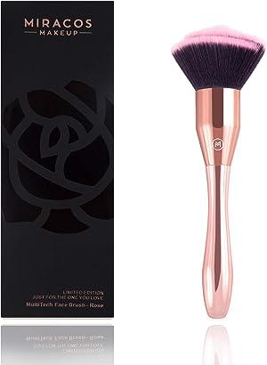 Brush Master Big Kabuki Makeup Brush for Foundation, Blush, Bronzer, Highlight, Premium Rose Cosmetic Brush (Champagne)