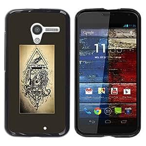 YOYOYO Smartphone Protección Defender Duro Negro Funda Imagen Diseño Carcasa Tapa Case Skin Cover Para Motorola Moto X 1 1st GEN I XT1058 XT1053 XT1052 XT1056 XT1060 XT1055 - albañil libre ingeniero simbolismo pirámide