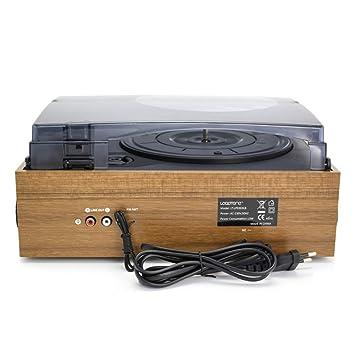 JJSSGGJJLLSSJJ Tocadiscos Reproductor de Vinilo LP Tocadiscos ...