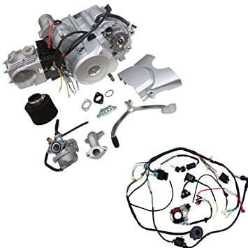 amazon com wphmoto 125cc 4 stroke semi auto single cylinder air Wiring- Diagram