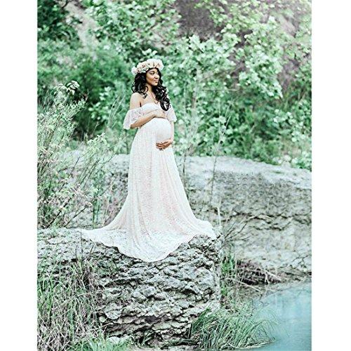 6e4d2bc84e7f9 Long Maternity Dress,Hemlock Women Lace Maternity Photo Dress Off Shoulder  Photography Pregnancy Dress (