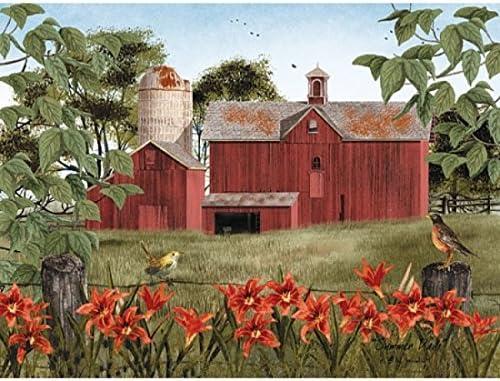Billy Jacobs Summer/'s End Barn  Art Print 16 x 12