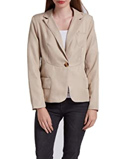 befe2808b300d KENANCY Womens Blazer Jacket Work Office Slim Fit Casual One Button Suit  Coat