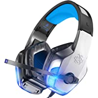 BENGOO V-4 Gaming Headset for Xbox One, PS4, PC, Controller, Noise Cancelling Over Ear Headphones with Mic, LED Light Bass Surround Soft Memory Earmuffs for PS2 Mac Nintendo Game Boy Advance Games