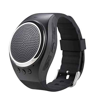 Bluetooth Watch Speaker Portable Loud Speaker Handsfree Wireless Receive Call Music FM WristBand for Android Smartphone