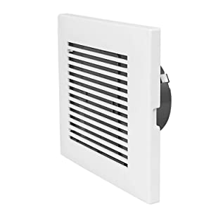 Hon&Guan 3 Inch Square Air Vent, ABS Grille Cover White Soffit Vent for Bathroom Office Kitchen Ventilation(75mm)