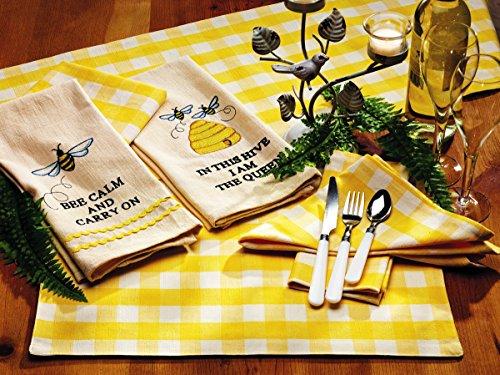 Olivia's Heartland Picnic Yellow Napkin (Gingham Napkins Yellow)