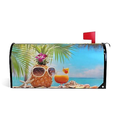 Wamika - Buzón magnético con diseño de piña y Gafas de Sol ...