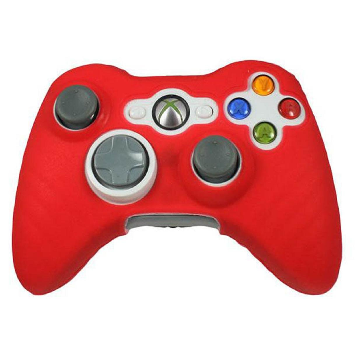 lookatool for XBOX 360 Game Controller New Quality Silicone Skin Case Cover (Black)