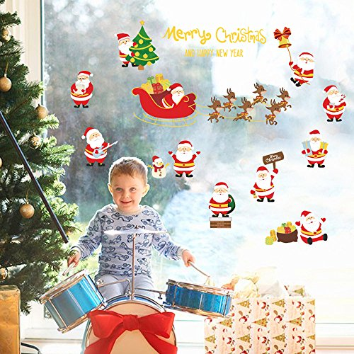 ZOMUSA Very Merry Christmas Party Winter Friends Mega Value Scene Setters Wall Decorating (Multicolor)]()