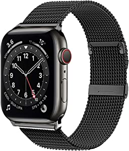 ZZLOVE Compatible for Apple Watch Band 38mm 40mm 42mm 44mm Adjustable Stainless Steel Mesh Wristband Sport Loop for iWatch Series 6/5/4/3/2/1 SE