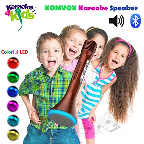Wireless Handheld Toddler Microphones Karaoke Player Cool 2017 Toys for Kids Singing Speaker, Halloween Musical Device for Girls Teens to Sing Disney Songs, Electronics Birthday Gifts