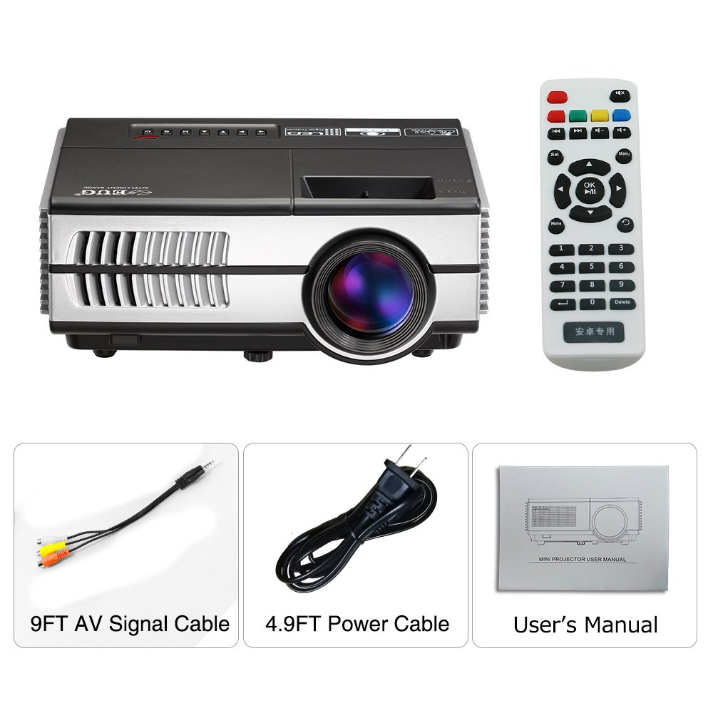 Wireless Mini Projector LED LCD- 1500 Lumens 1080P Multimedia for Home Theater Cinema Movie Video Games Outdoor Party including Built-in Speaker, Keystone, HDMI, USB, VGA, 3.5mm Audio jack, Remote by EUG (Image #8)