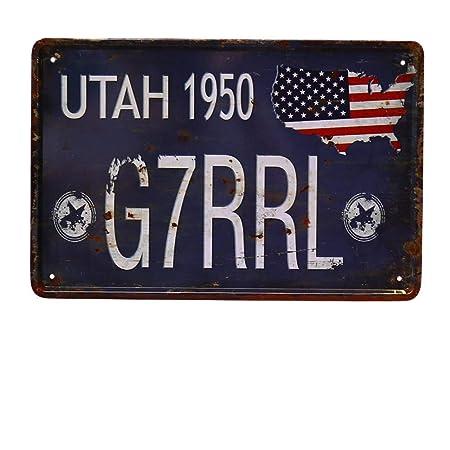 WallAdorn Utah 1950 G7Rrl - Cartel de Hierro para Pintar en ...
