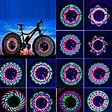 TGJOR Bike Wheel Lights, Super Cool LED Waterproof Bicycle Spoke Light With 32-LED and 32pcs Changes Patterns Bicycle Rim Lights for Mountain Bike/Road Bikes/BMX Bike/Hybrid Bike/Folding Bike
