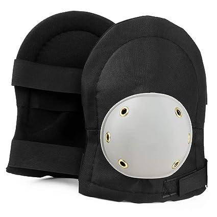 Aquarius Heavy Duty rodilleras con acolchado de espuma, exterior resistente y amplia protección shell para