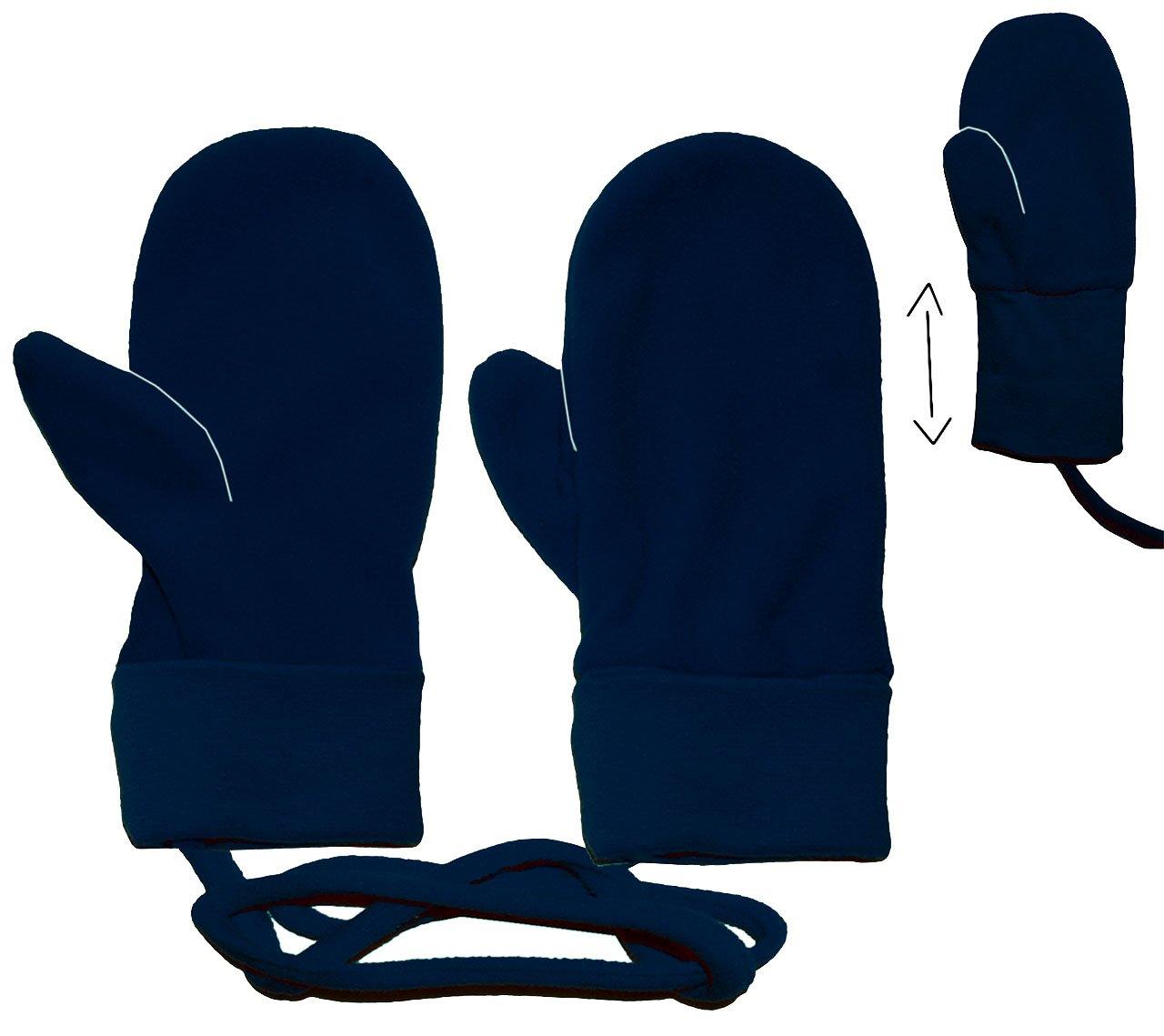 dunkelblau Unbekannt Handschuhe // Fleecehandschuhe Fleece F/äustlinge // D/äumlinge mit Daumen Babyhandschuhe 2 Jahre bis 4 Jahre Baby Erstlingshandschuhe .. Gr