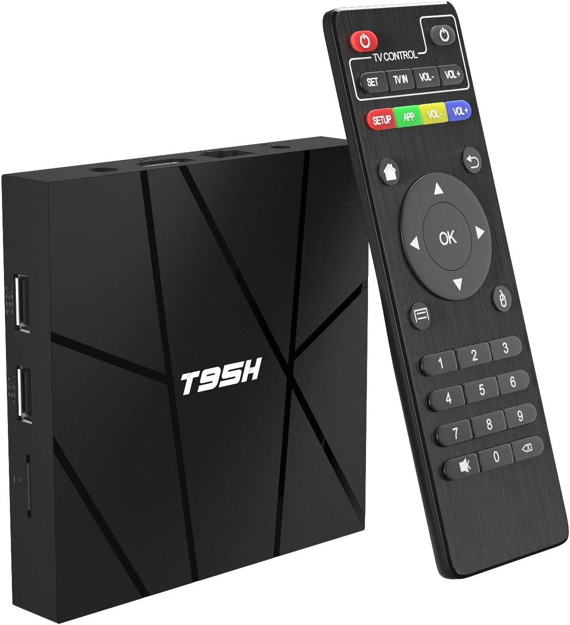 10 // 100M Ethernet 2.4G WiFi etc. H.265 3D T95H Allwinner H616 Quad-Core 2020 6K TV Box con 64bit Android 10.0 TV Box 2GB RAM 16GB ROM Smart TV Box