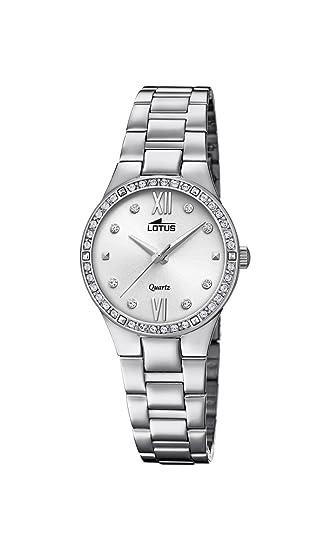 Lotus Watches Reloj Análogo clásico para Mujer de Cuarzo con Correa en Acero Inoxidable 18460/1: Lotus: Amazon.es: Relojes