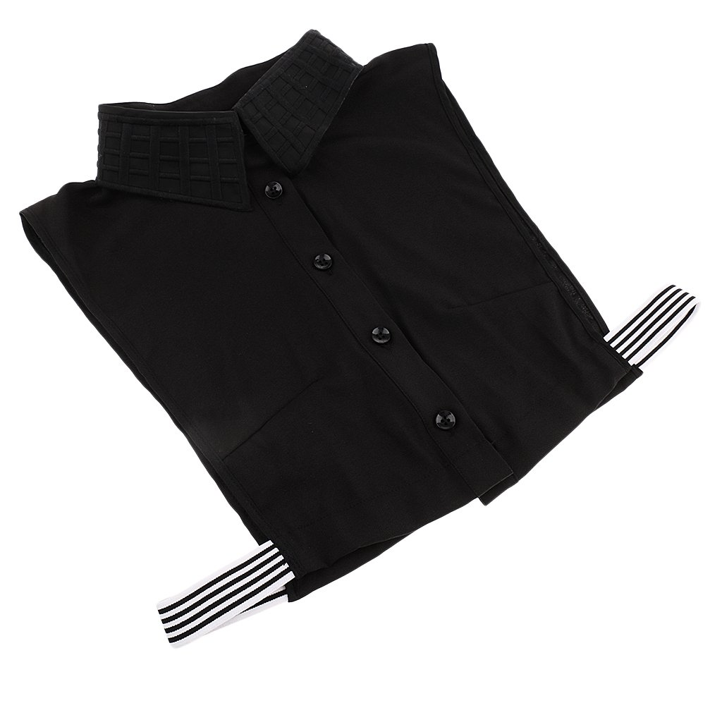 MagiDeal Vintage Camicia Mezza Manica Vintage Finta Camicetta Mezza Manica Staccabile In Cotone per Donna Taglia unica