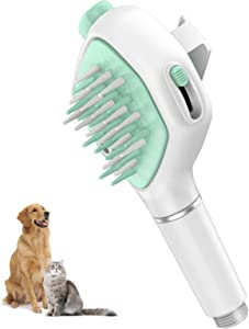 FINVIE Pet Bathing Tool | Pet Shower Sprayer & Scrubber in-One, Shower Bath Tub & Outdoor Garden Hose Compatible, Dog Cat Grooming