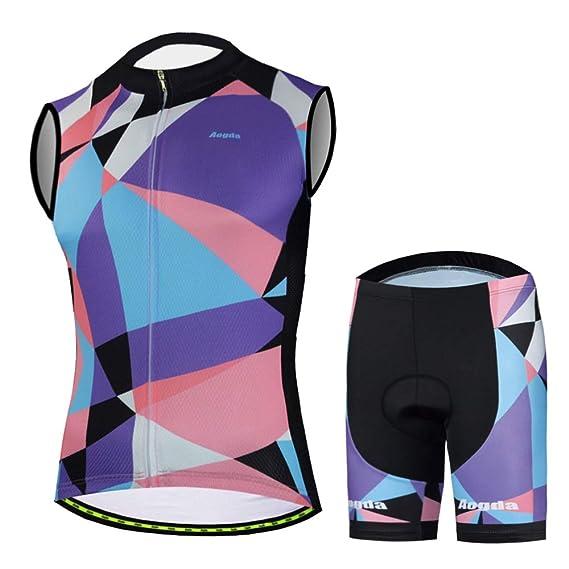Aogda Cycling Jersey Sleeveless Shirts Men Bike Vest Clothing Team Biking Tops Tight