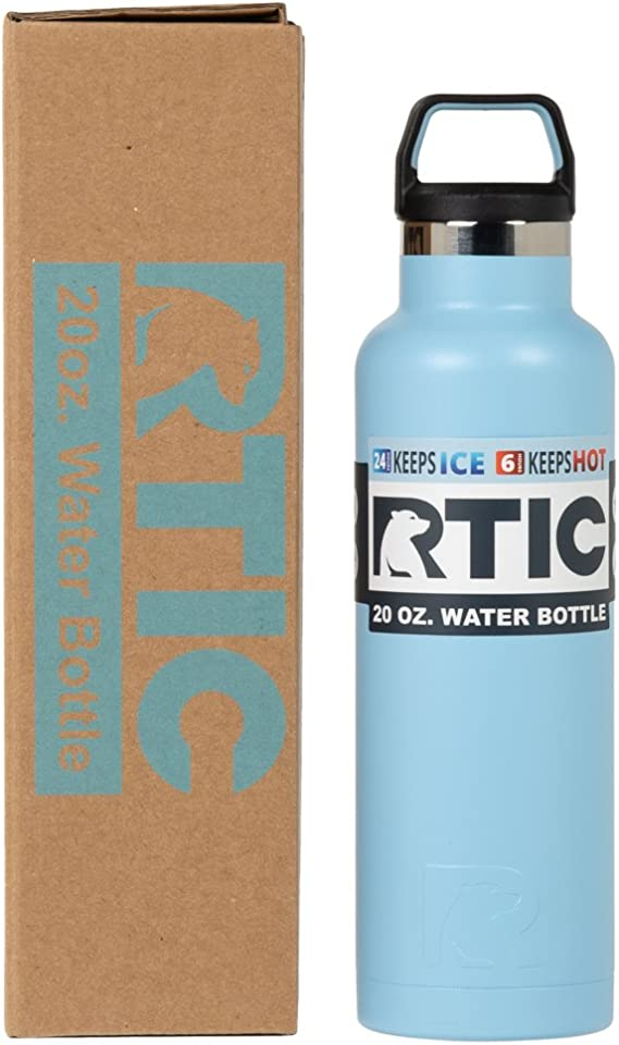 Amazon Com Rtic Water Bottle 20 Oz Ice Matte Vacuum Insulated Stainless Steel Home Improvement