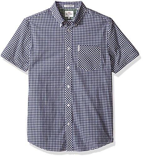 ben-sherman-mens-short-sleeve-button-down-shirt-blue-depths-medium