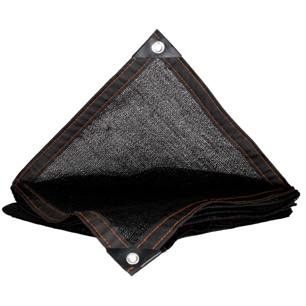HAIPENG Schattierungsnetz Schatten Netting Plane Blatt Bodenbedeckungen Verschlüsselungsnetz Sonnencreme Windschutz Schwerlast (Farbe   schwarz, größe   4x6m)