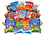 Sweet and Savory Care Package - (30 Count) Variety Assortment Bundle of Snacks, Candy, Chips, Chocolate, Cookies, Granola Bars, and More!