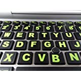 Fluorescent Keyboard Stickers. Commercial Grade Inlays (Not Printed Letters) Plus USB Light. Will Not Wear or Fade…