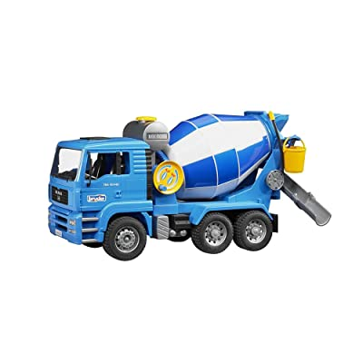 Bruder 02744 MAN Cement Mixer Realistic Construction Truck for Pretend Play: Toys & Games