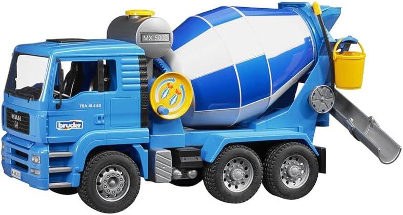 B00006IJSH Bruder 02744 MAN Cement Mixer Realistic Construction Truck for Pretend Play 61QLpYrkiKL