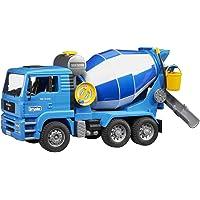 Bruder-02744 Hormigonera, Color Azul y Blanco (02744)