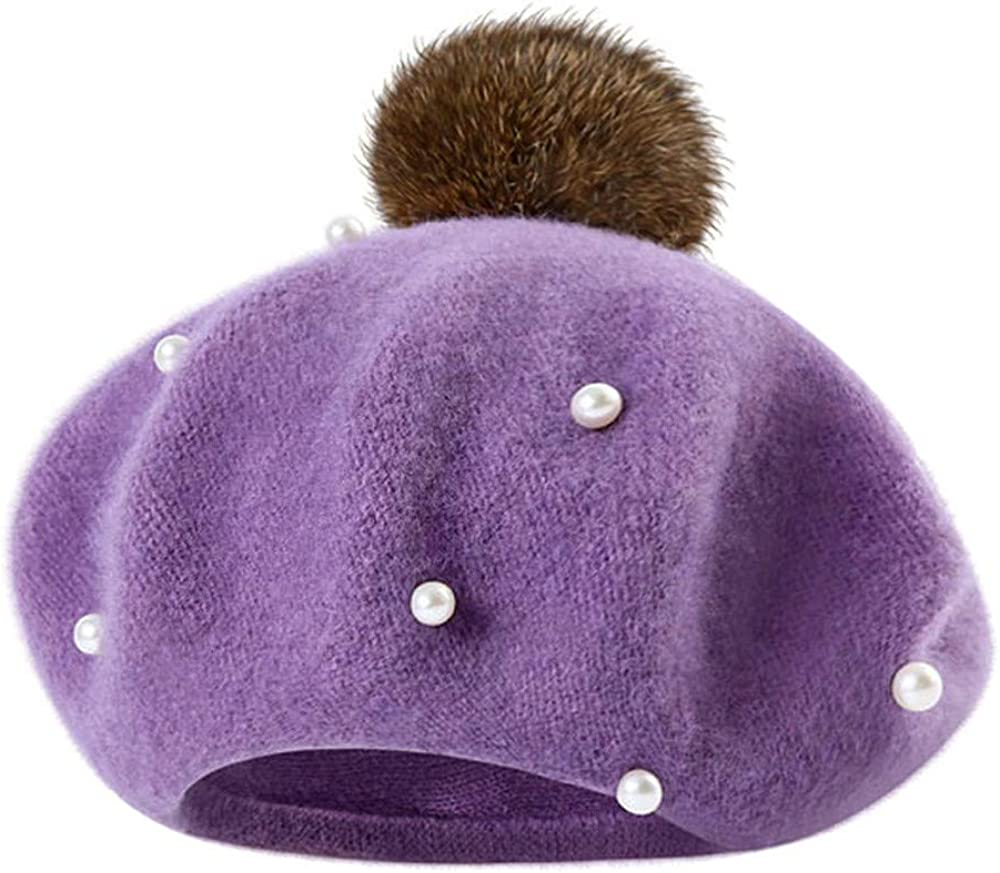 Amyline Infant Toddler Baby Kids Boys Girls Winter Warm Hat Cap White Pearl Ball Beanie Hat