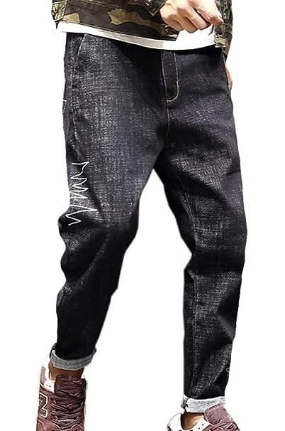 Amazon.com: Yaolor - Pantalones vaqueros para hombre, talla ...
