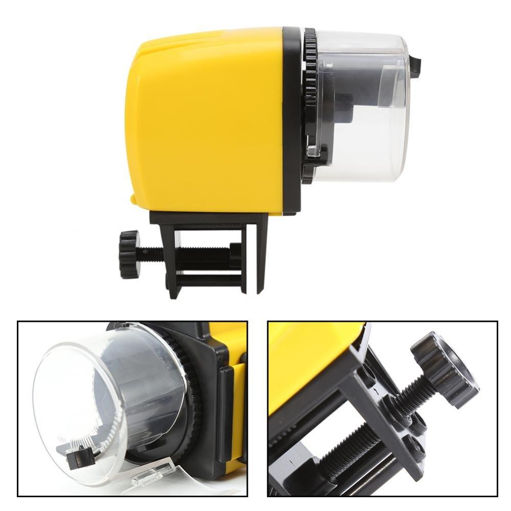 Alimentador automático de los Pescados para el Acuario casero del Contador de Tiempo Eléctrico de la pecera del Acuario, Manual/Auto: Amazon.es: Hogar