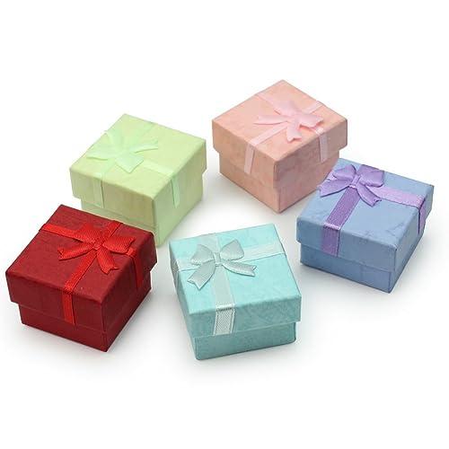 5pcs cajas embalaje cartón Case Caja 41 * 41 * 30 mm para regalo joyas: Amazon.es: Joyería