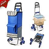 Upgraded Folding Shopping Cart Stair Climbing Cart
