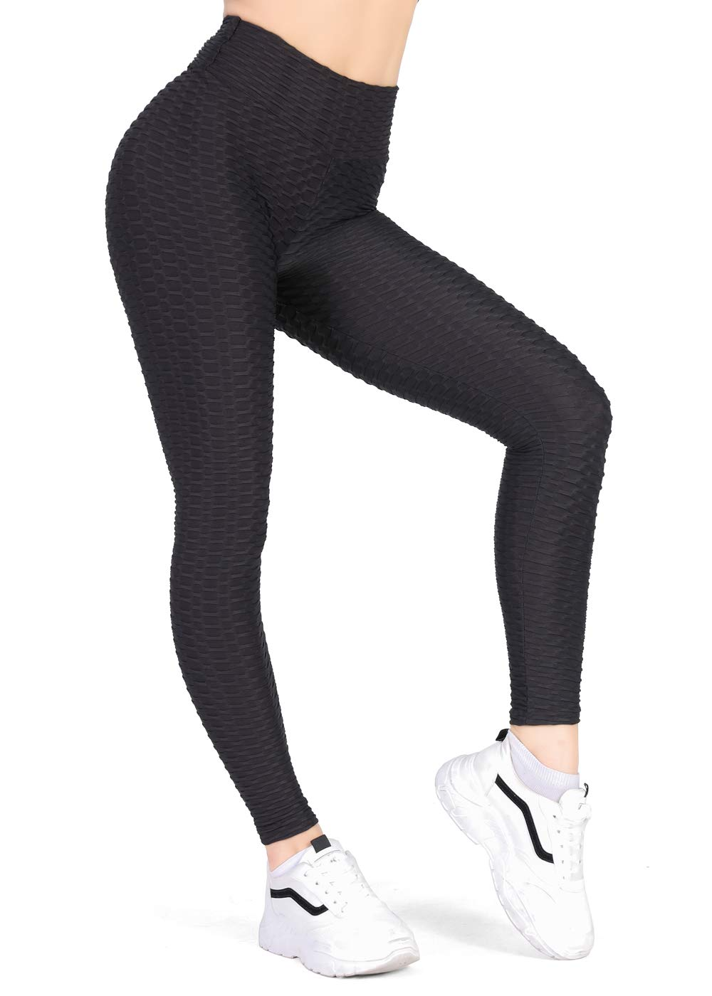 Kamots Beauty Butt Lifting Leggings High Waisted Women Cellulite Stretchy Workout Yoga Pants Black
