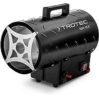 TROTEC Gasheizgebläse TGH 15 E Gas Heizgerät inkl Verbindungschlauch und Druckminderer Heizleistung bis 15 kW, 320 m³/h Luftdurchsatz, für handelsübliche Gasflaschen, Piezozündung