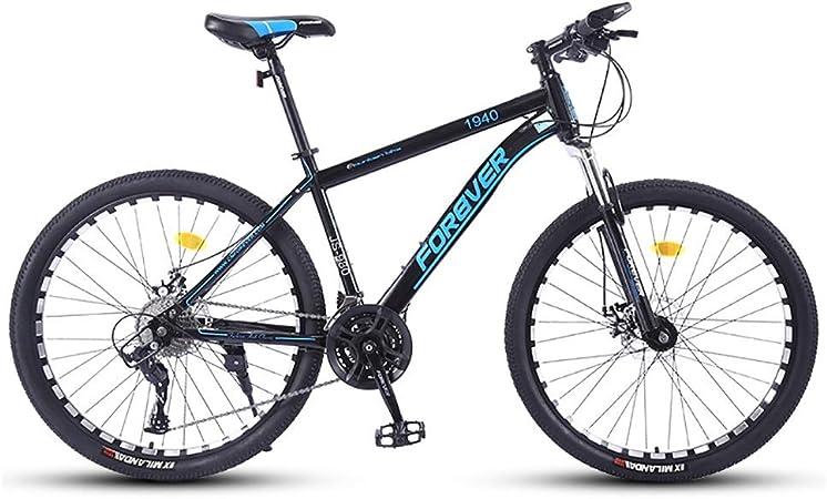 RYP Bicicleta para Joven Bicicletas De Carretera Las Bicicletas MTB MTB Adulto Camino de la Bicicleta de los Hombres de 24 Velocidad 26 Pulgadas Llantas de Las Mujeres por (Color : Blue):